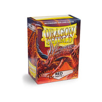 Dragon Shield Standard Card Sleeves - Red Matte