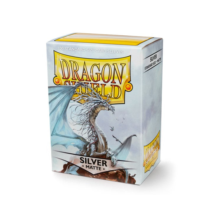 Dragon Shield Standard Card Sleeves - Silver Matte