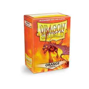Dragon Shield Standard Card Sleeves - Orange Matte