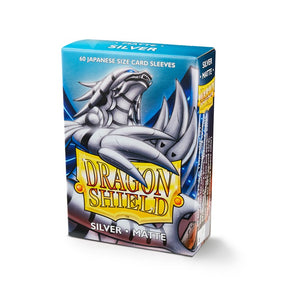 Dragon Shield Small Card Sleeves - Matte Silver - UltimateTCG