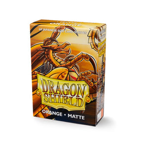 Dragon Shield Small Card Sleeves - Matte Orange - UltimateTCG