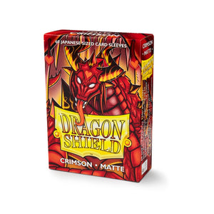 Dragon Shield Small Card Sleeves - Crimson Matte - UltimateTCG