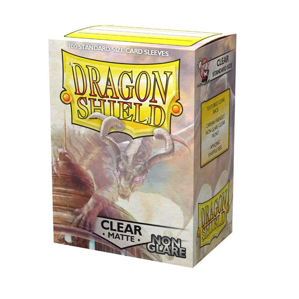 Dragon Shield Standard Card Sleeves - Clear Matte Non Glare - Ultimate TCG Limited