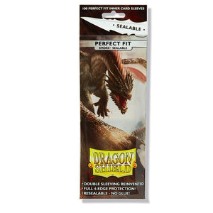 Dragon Shield Standard Perfect Fit Sealable Sleeves - Smoke