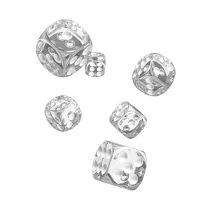Oakie Doakie Dice D6 Dice 16 mm Translucent - Clear (12)