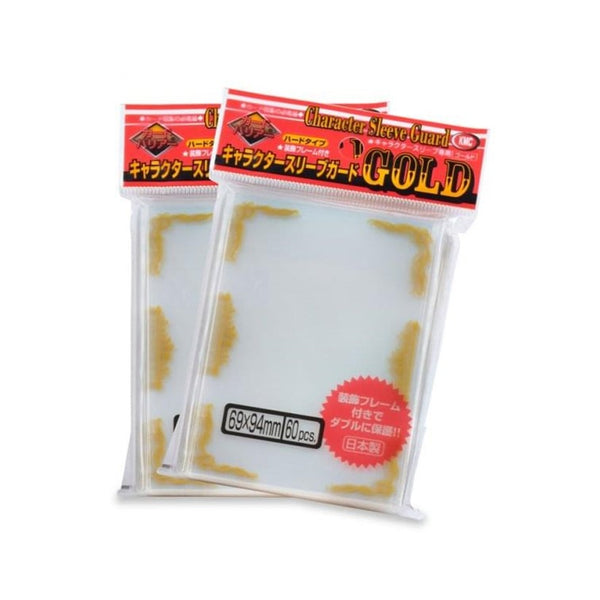 KMC Character Guard Standard Oversleeves - Gold Floral - Ultimate TCG Limited