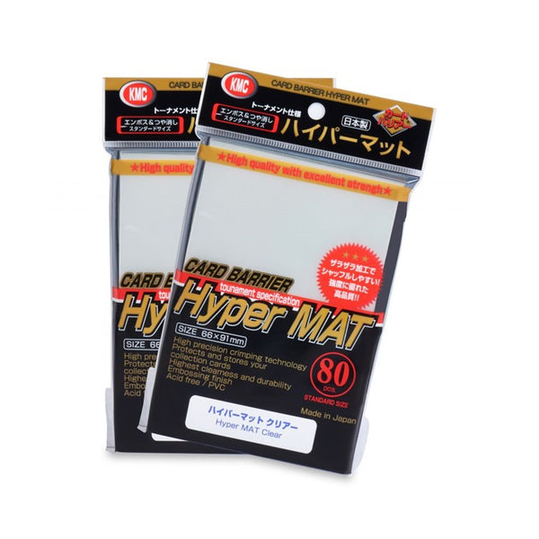 KMC Hyper Mat Standard Card Sleeves - Clear - Ultimate TCG Limited