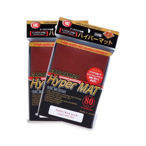 KMC Hyper Mat Standard Card Sleeves - Red - UltimateTCG