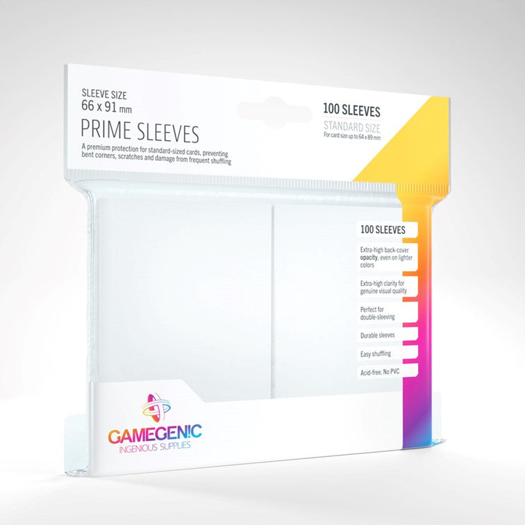 Gamegenic Prime Sleeves - White