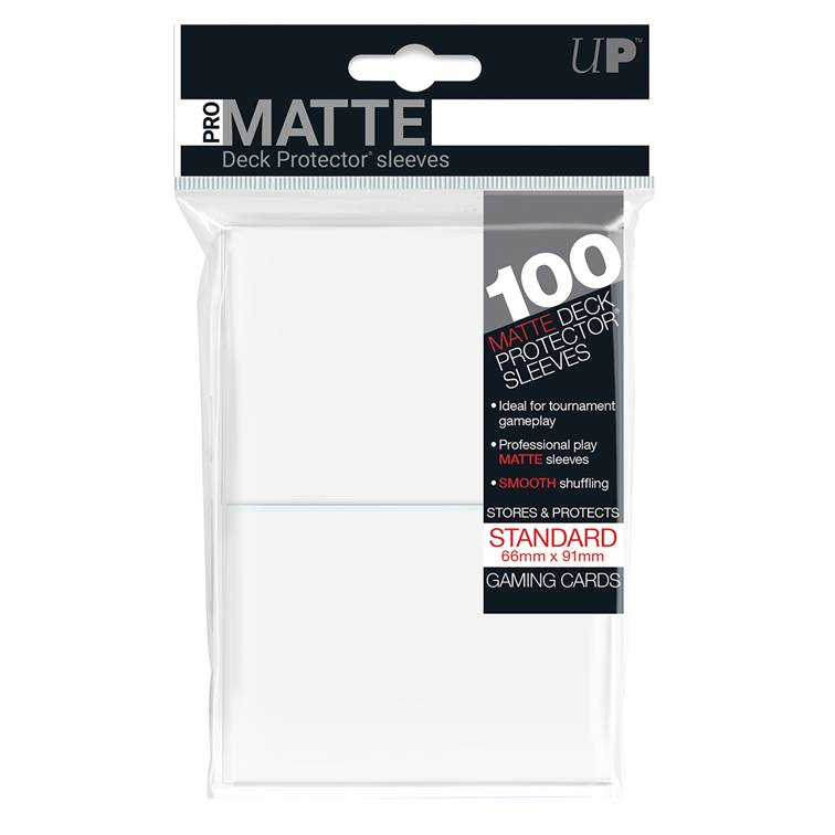 Ultra Pro Standard Pro Matte Card Sleeves - White - Ultimate TCG Limited