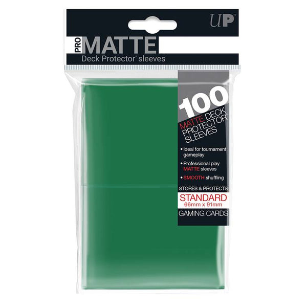 Ultra Pro Standard Pro Matte Card Sleeves - Green - UltimateTCG