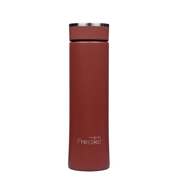 FRESSKO COLOURED INSULATED WATER BOTTLE/TEA INFUSER