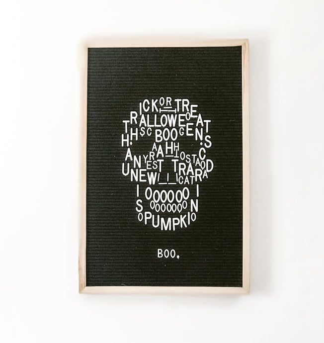 Halloween Letter Board Art