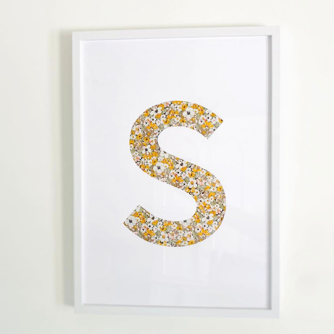 DIY Fabric Letter Art