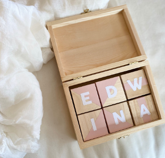 DIY Baby Name Blocks
