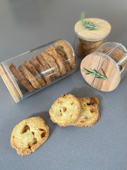 Christmas Food Gifts - White Choc + Butterscotch Shortbread
