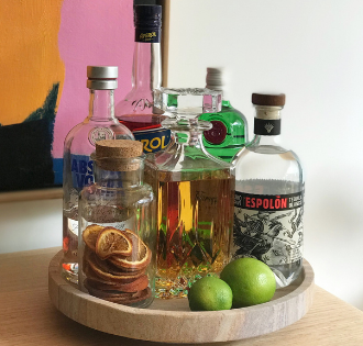 DIY Lazy Susan Drinks Tray