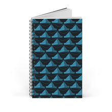 Load image into Gallery viewer, Paper Hats Pattern | Black Blue | Spiral Notebook 80 pages-80 pages notebook-Blank-Spiral Notebook-Eggenland