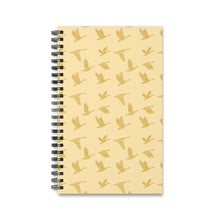 Load image into Gallery viewer, Flying Birds Pattern | Golden | Spiral Notebook 80 pages-80 pages notebook-Eggenland