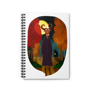 Deer Creature at Night | Lined Spiral Notebook 118 Pages-118 pages notebook-Spiral Notebook-Eggenland