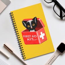Load image into Gallery viewer, FIRST AID KITten | Yellow | Spiral Notebook 80 pages-80 pages notebook-Eggenland