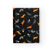 Load image into Gallery viewer, Funky Cats Pattern | Black | Journal - Blank-journals-Journal-Eggenland