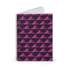 Load image into Gallery viewer, Paper Hats Pattern | Pink Black | Lined Spiral Notebook 118 Pages-118 pages notebook-Spiral Notebook-Eggenland
