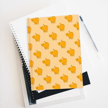 Load image into Gallery viewer, Yellow Cat Pattern | Cream | Journal - Blank-journals-Journal-Eggenland