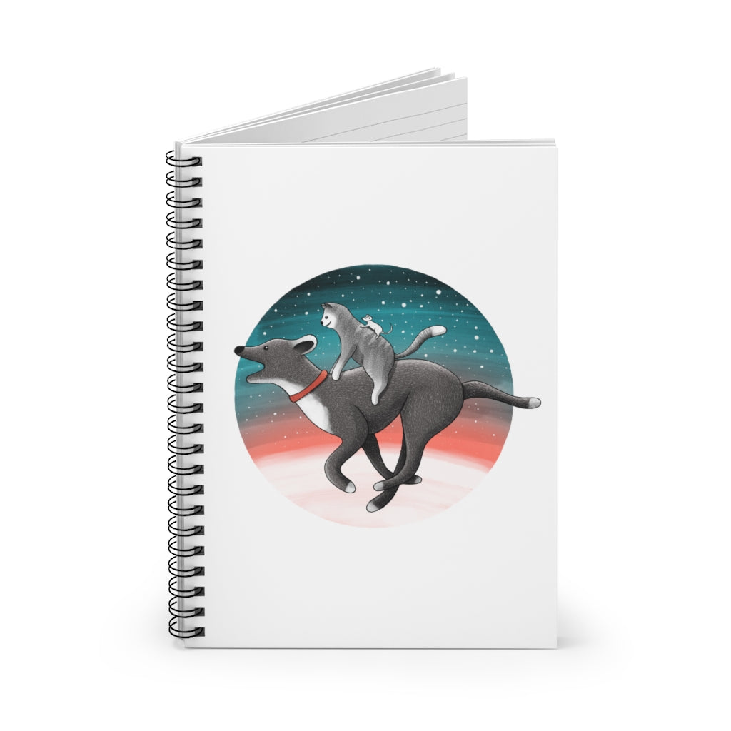 Together We Are Faster | Lined Spiral Notebook 118 Pages-118 pages notebook-Spiral Notebook-Eggenland