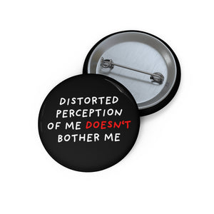 "Distorted Perception | Black | Pin Buttons-pin buttons-1,25""-Eggenland"