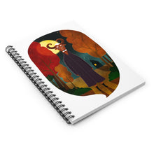 Load image into Gallery viewer, Deer Creature at Night | Lined Spiral Notebook 118 Pages-118 pages notebook-Spiral Notebook-Eggenland