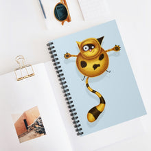 Load image into Gallery viewer, Fat Cat | Blue | Lined Spiral Notebook 118 Pages-118 pages notebook-Spiral Notebook-Eggenland