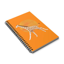 Load image into Gallery viewer, Giraffe and Sun | Orange | Spiral Notebook 80 pages-80 pages notebook-Eggenland
