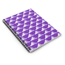 Load image into Gallery viewer, Paper Planes Pattern | Violet White | Lined Spiral Notebook 118 Pages-118 pages notebook-Spiral Notebook-Eggenland