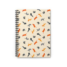 Load image into Gallery viewer, Funky Cats Pattern | Cream | Lined Spiral Notebook 118 Pages-118 pages notebook-Spiral Notebook-Eggenland