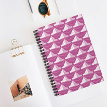 Load image into Gallery viewer, Paper Hats Pattern | Pink | Lined Spiral Notebook 118 Pages-118 pages notebook-Spiral Notebook-Eggenland