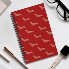 Load image into Gallery viewer, Cute Dachshund Dog | Red | Spiral Notebook 80 pages-80 pages notebook-Eggenland