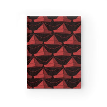 Load image into Gallery viewer, Paper Hats Pattern | Black and Red | Journal - Blank-journals-Journal-Eggenland