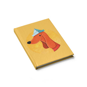 Dog with Newspaper Hat | Journal - Blank-blank journals-Journal-Eggenland