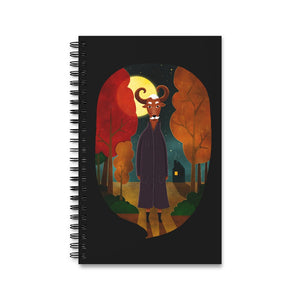 Deer Creature at Night | Black | Spiral Notebook 80 pages-80 pages notebook-Eggenland