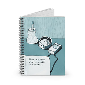 No Answer | Blue | Lined Spiral Notebook 118 Pages-118 pages notebook-Spiral Notebook-Eggenland