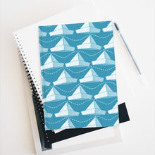 Load image into Gallery viewer, Paper Hats Pattern | Blue White | Journal - Blank-journals-Journal-Eggenland