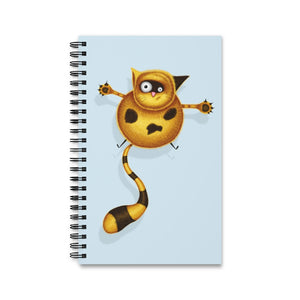 Fat Cat | Blue | Spiral Notebook 80 pages-80 pages notebook-Eggenland
