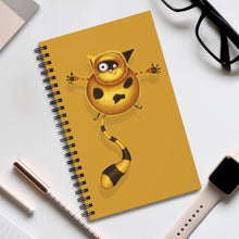 Load image into Gallery viewer, Fat Cat | Golden | Spiral Notebook 80 pages-80 pages notebook-Eggenland