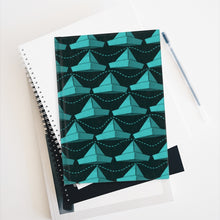 Load image into Gallery viewer, Paper Hats Pattern | Light Blue Black | Journal - Blank-journals-Journal-Eggenland