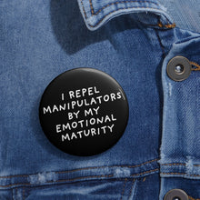 Load image into Gallery viewer, Emotional Maturity | Black | Pin Buttons-pin buttons-Eggenland