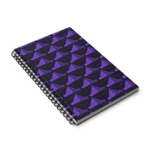 Load image into Gallery viewer, Paper Hats Pattern | Black Violet | Spiral Notebook 80 pages-80 pages notebook-Eggenland