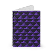 Load image into Gallery viewer, Paper Hats Pattern | Black Violet | Lined Spiral Notebook 118 Pages-118 pages notebook-Spiral Notebook-Eggenland