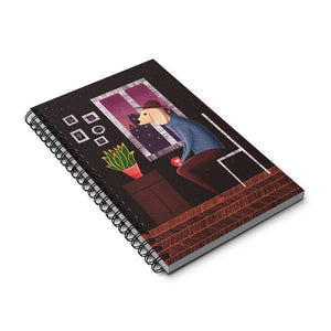 Charlie Waiting For Love | Spiral Notebook 80 pages-80 pages notebook-Eggenland