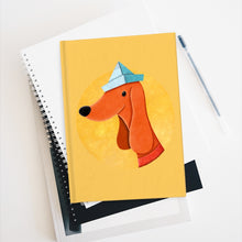 Load image into Gallery viewer, Dog with Newspaper Hat | Journal - Blank-blank journals-Journal-Eggenland
